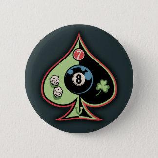 8 of Spades Button