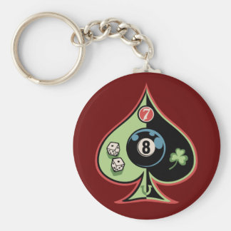 8 of Spades Keychains