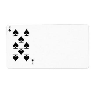 8 of Spades Label