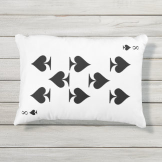 8 of Spades Outdoor Pillow