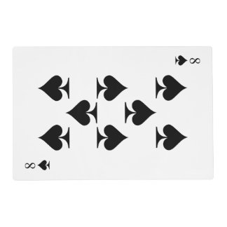 8 of Spades Placemat