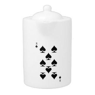 8 of Spades Teapot