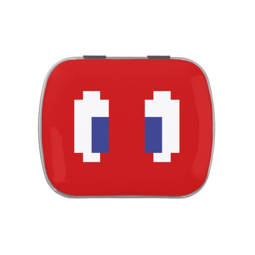 8 ojos de Manga del pixel del pedazo Frascos De Dulces