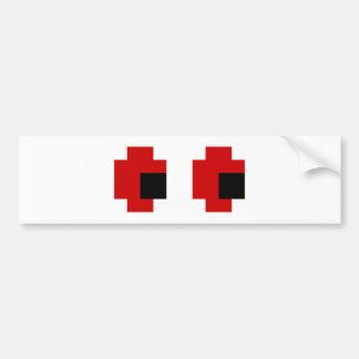 8 ojos fantasmagóricos del rojo del pedazo pegatina para auto