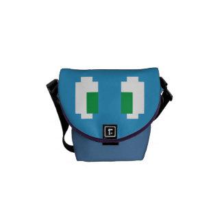 8 ojos verdes de Manga del pixel del pedazo Bolsa De Mensajería