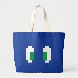 8 ojos verdes de Manga del pixel del pedazo Bolsa De Tela Grande