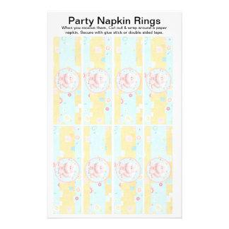 8 per sheet Safari Baby Shower Paper Napkin Rings