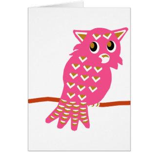 8-Pink Owl Card