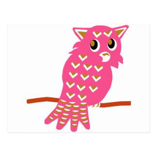 8-Pink Owl Postcard