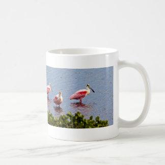 8 Pink water Birds .(The Eight) Coffee Mug