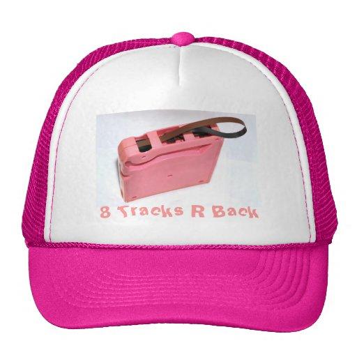 8 pistas R apoyan el gorra rosado del cartidge