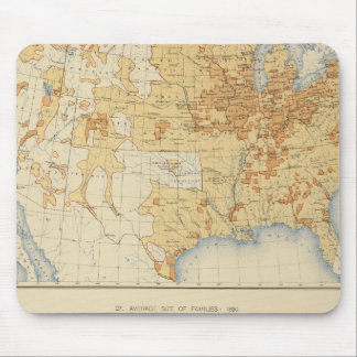 8 población rural, tamaño de las familias 1890 mouse pads