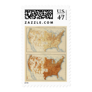 8 población rural, tamaño de las familias 1890 timbre postal