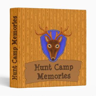 8-Point Buck Deer Hunting Trophy on Wood Grain Binder