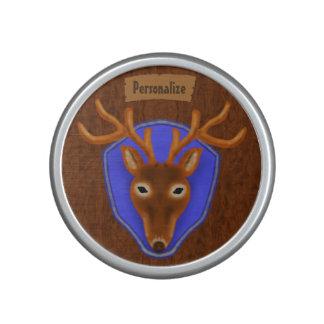 8-Point Buck Deer Hunting Trophy on Wood Grain Bluetooth Speaker
