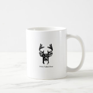8 Point Buck White Tail Deer Classic White Coffee Mug