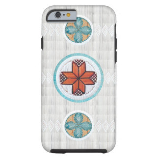 8 Pointed Star with Flower Tough iPhone 6 Case