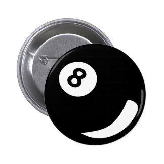 8 pool billiard ball black billiards pinback button