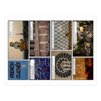 "8 postales ""French Clichés"" en Español"