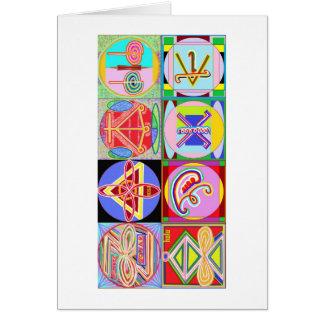 8 PURE Karuna REIKI Signs by Navin Joshi Cards