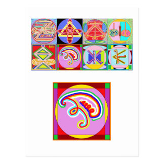 8 PURE Karuna REIKI Signs by Navin Joshi Postcard
