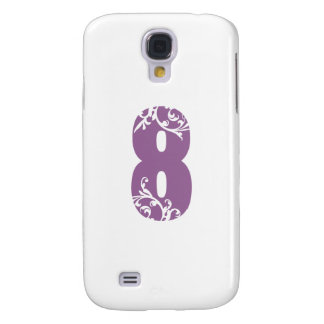 #8 Purple Floral Samsung Galaxy S4 Cover