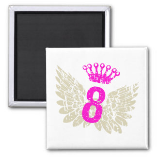 #8 Raspberry Wings Magnet