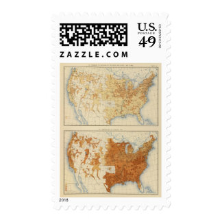 8 Rural population, size of families 1890 Stamp