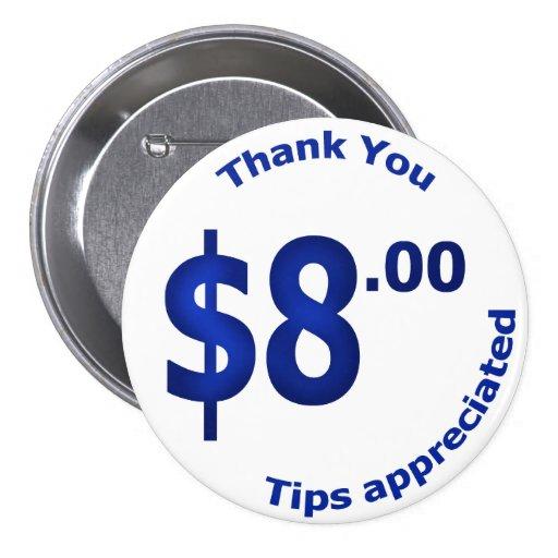 $8 Sales Button
