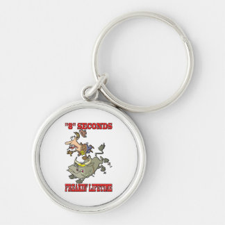 """""""8"""" Seconds - Freakin' Lifetime Silver-Colored Round Keychain"""