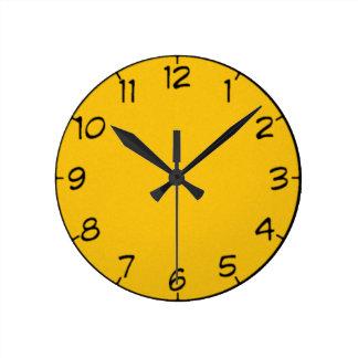 8 Shades of Yellow Clock