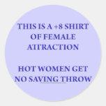 +8 Shirt of Female Attraction Sticker