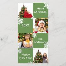 8 Squares Green - Christmas Photo Card