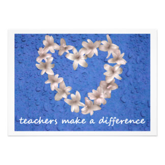 8 Teachers Make a Difference Personalized Invites