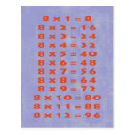 #8 Times Table Collectible Postcard