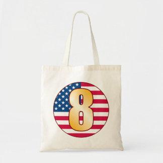 8 USA Gold Tote Bag