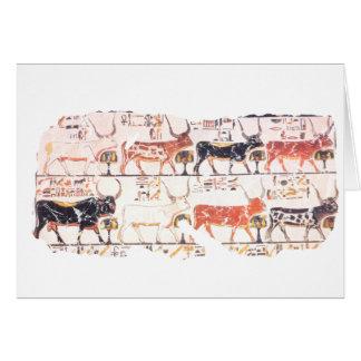 8 vacas tarjeta de felicitación