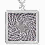 8 Vodkas Too Many - Fractal Silver Plated Necklace