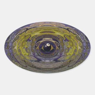 8 vueltas rizadas de la bola pegatinas de ovaladas