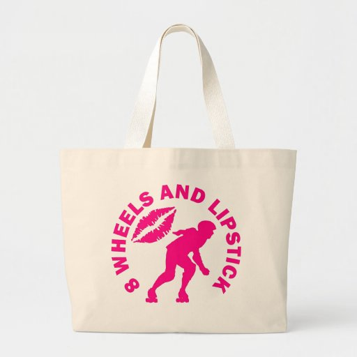 8 Wheels and Lipstick Canvas Bags