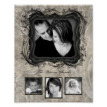 """8""""x10"""" 4 Slot Family Collage Montage Timeless Beau Poster"""