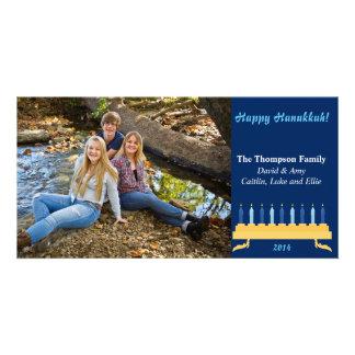 """8""""x4"""" Hanukkah Photocard Card"""