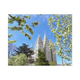 """8"""" X 10"""" Canvas Salt Lake City LDS Temple"""