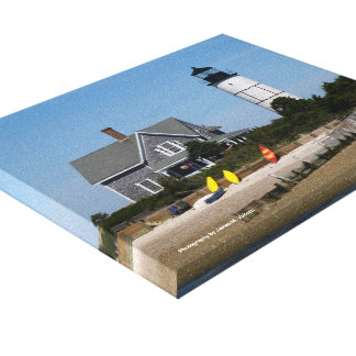 8 x 10 Cape Cod Lighthouse Stretched Canvas Print