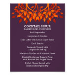 8 x 10 Cocktail Table Menu for Framing Photo Print