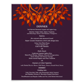 Wedding Menu Posters Zazzle