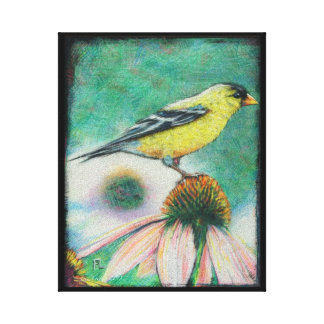 """8 x 10 """"finch"""" painting by Fred Canvas Print"""