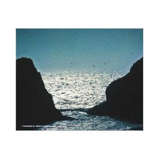 8 x 10 Heceta Head, Oregon (blue) Canvas Print