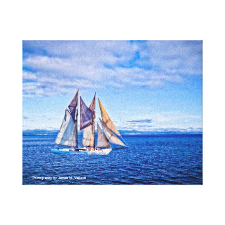 8 x 10 Sailboat Stretched Canvas Print