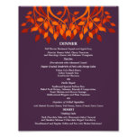 8 x 10 Table Dinner Menu for Framing Photo Print